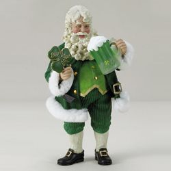 Musical Irish Santa with Beer
