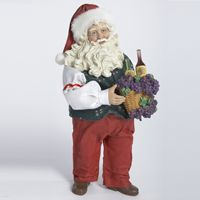 Wine Santa with Basket